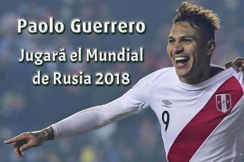 Paolo Guerrero si Jugara la copa mundial