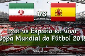 España vs Irán en VIVO y Directo Copa Mundial Rusia 2018 este Miércoles 20 de Junio 2018