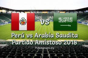 Perú vs Arabia Saudita en vivo Amistoso 2018