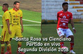 Santa Rosa vs Cienciano en VIVO Segunda División 2018