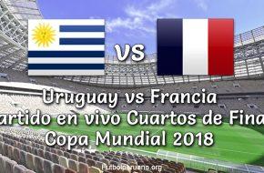 Uruguay vs Francia en vivo Copa Mundial 2018