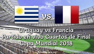 Uruguay vs Francia en VIVO Online Cuartos de Final Copa Mundial (Viernes 06 Julio 2018)