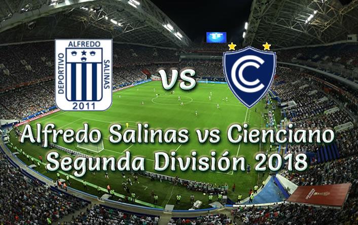 Alfredo Salinas vs Cienciano en vivo segunda División 2018