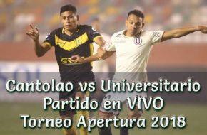 Cantolao vs Universitario en VIVO y Directo Torneo Clausura 2018 este Sábado 15 Setiembre 2018