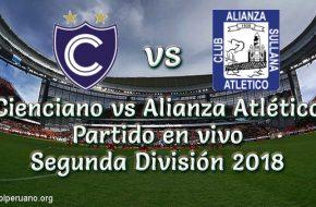 Resultado Cienciano vs Alianza Atlético 1-1 Goles y Resumen Segunda División 2018