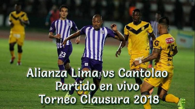 Alianza Lima vs Cantolao en vivo Torneo Clausura 2018