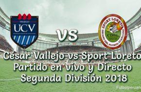 César Vallejo vs Sport Loreto en vivo Segunda División 2018