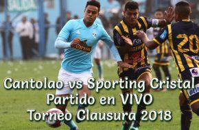Cantolao vs Sporting Cristal en VIVO Torneo Clausura 2018