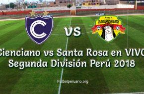 Resultado Cienciano vs Santa Rosa 4-0 Goles y Resumen de Segunda División 2018
