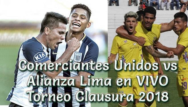 Comerciantes Unidos vs Alianza Lima en vivo Torneo Clausura 2018