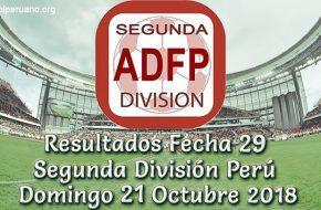 Resultados Fecha 29 Segunda División 2018