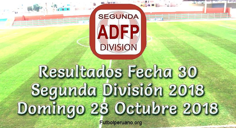 Resultados y Tabla de Clasificaciones Fecha 30 Segunda División 2018
