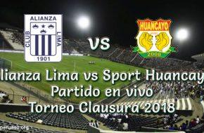Alianza Lima vs Sport Huancayo en VIVO y Directo Torneo Clausura 2018 este Domingo 11 Noviembre 2018
