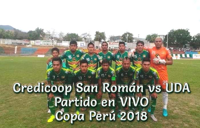 Credicoop San Román vs UDA en VIVO Copa Perú 2018