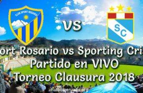 Sport Rosario vs Sporting Cristal en VIVO Torneo Clausura 2018