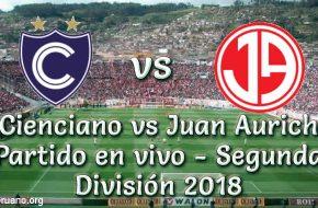 Cienciano vs Juan Aurich en VIVO y Directo VUELTA Segunda División 2018