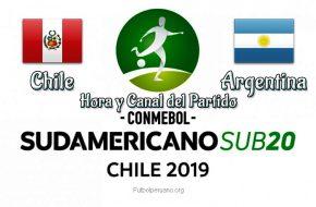 Perú vs Argentina Hora y Canal en vivo Sudamericano Sub-20