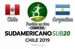 Perú vs Argentina en vivo Sudamericano Sub-20