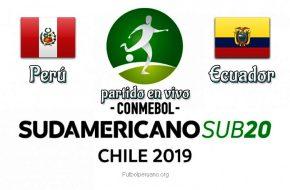 Perú vs Ecuador en VIVO y Directo Sudamericano Sub-20