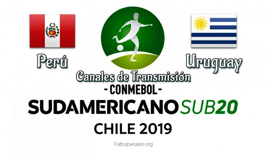 Perú vs Uruguay Canales de Transmisión en vivo Sudamericano Sub-20