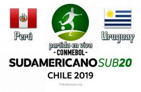 Perú vs Uruguay en vivo Sudamericano Sub-20