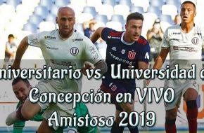 Universitario vs Universidad de comcepción en vivo amistoso 2019