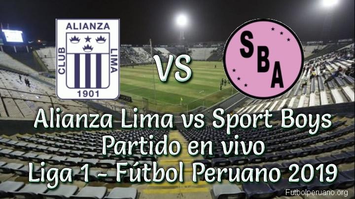 Alianza Lima vs Sport Boys en vivo Liga Fútbol Peruano 2019