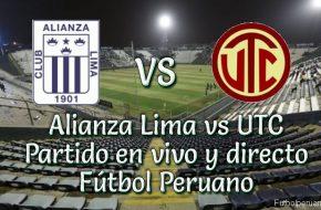 Alianza Lima vs utc en vivo futbol peruano