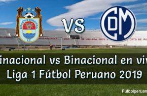 Binacional vs Deportivo Municipal en vivo Fútbol Peruano 2019