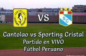 Cantolao vs Sporting Cristal en VIVO Fútbol Peruano