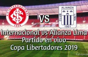 Internacional vs Alianza Lima en vivo Copa Libertadores 2019