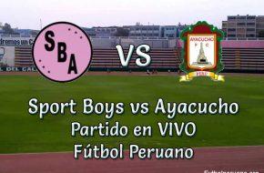 Sport Boys vs Ayacucho en vivo Futbol peruano