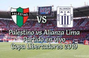 Palestino vs Alianza Lima en vivo Copa Libertadores 2019