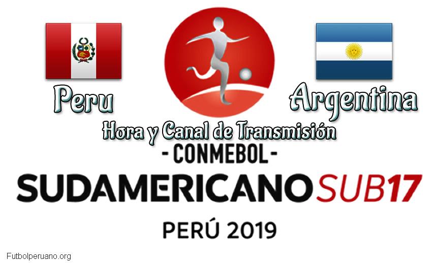 Peru vs Argentina Hora y Canal Sudamericano Sub-17