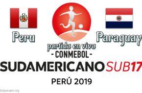 Peru vs Paraguay en vivo Hexagonal Final Sudamericano Sub-17